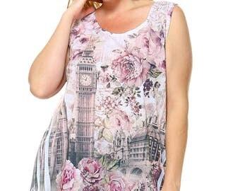London with shiny rhinston & lace