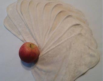 Bamboo velour cloth wipes set