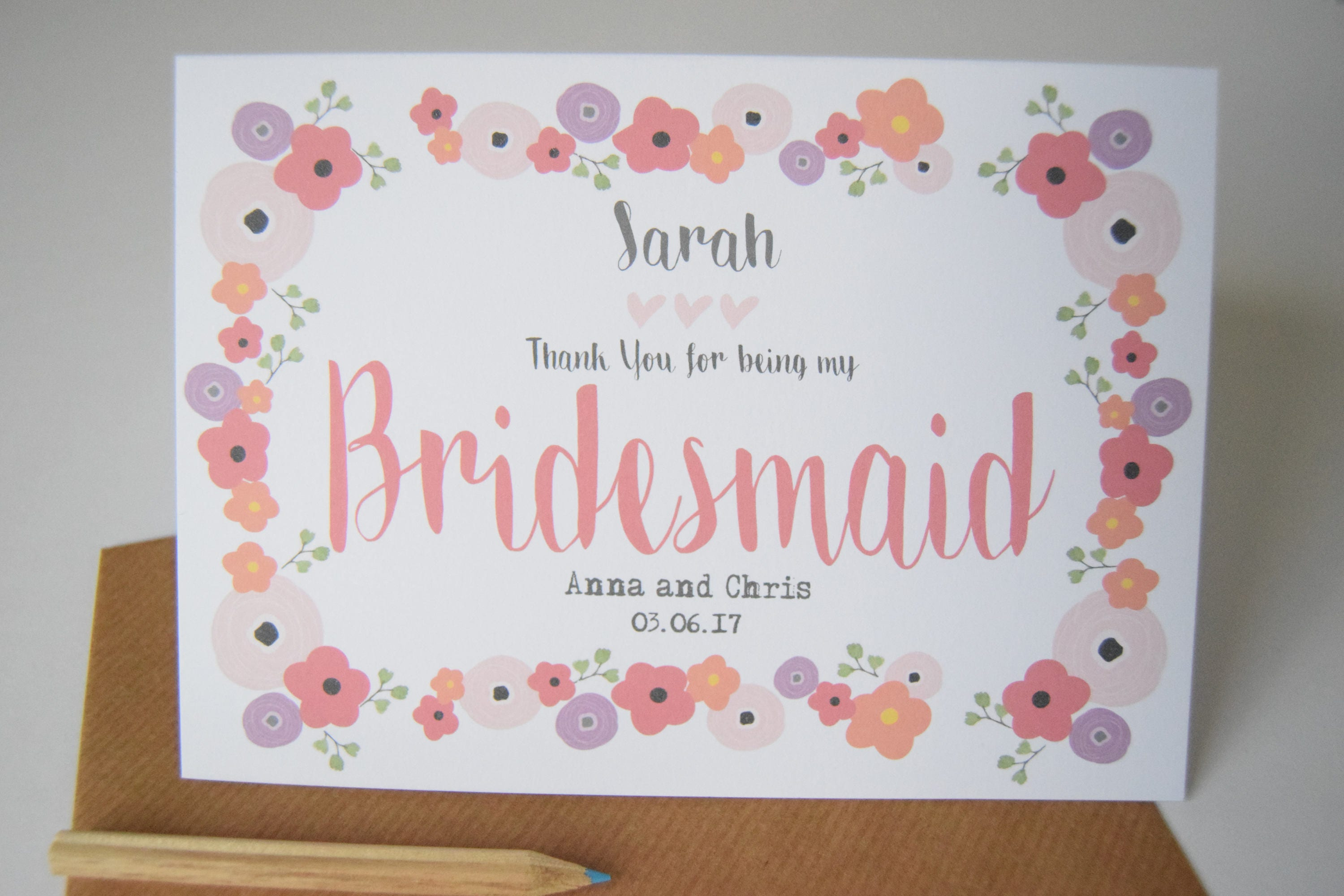 Bridesmaid Thank You Cards Faux Gold Foil Confetti Elegant Thank