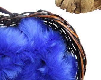 "Royal Blue Soft Mongolian Faux Fur,2"" Pile Newborn Cuddly Faux Fur Nest Newborn,Baby Posing Photo Prop, Stuffer, PhotoProp Layering blanket."