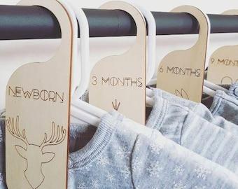 Timber Wardrobe Closet Divider Newborn - 12 Months (set of 5)