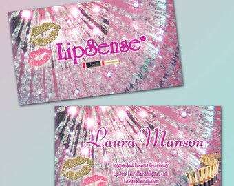 Business Cards, Fast Free Personalization and Change, Digital Business Cards,LipSense  Business Card, Business card