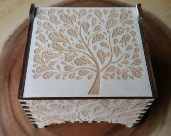 Tree of Life / Tree / Wooden Trinket Box / Wooden Box / Jewellery Box / Woodland / Rustic