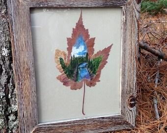 Riverbend | Leaf Art | Leaf Painting | Northern Forest | River |