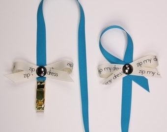 zip my dress®  Blue zipper puller