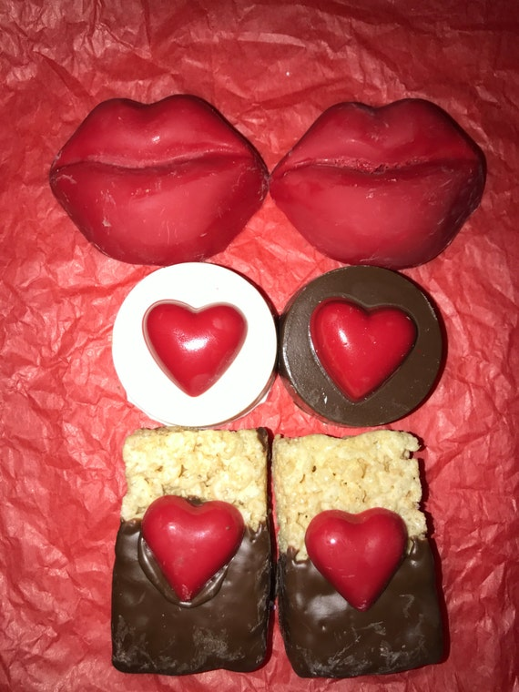 Valentine's Day Chocolate Covered Oreos and Rice Krispy