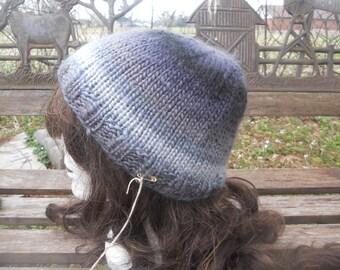 Black and Grey Beanie Hat