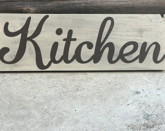 Kitchen Wood Sign