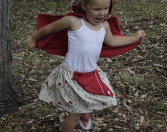 Red Riding Hood cape and skirt.