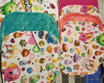 8 Shopkins Wash Cloths