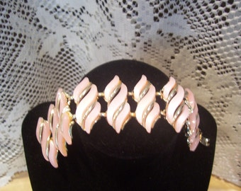 Wide Pink Thermoset Bracelet