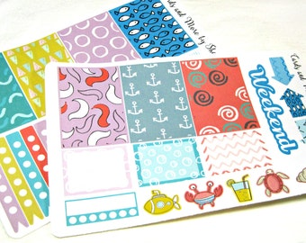 Planner Stickers - Weekly Planner Stickers - Happy Planner Stickers - Day Designer - Functional Stickers - Beach Bum - Sea Life