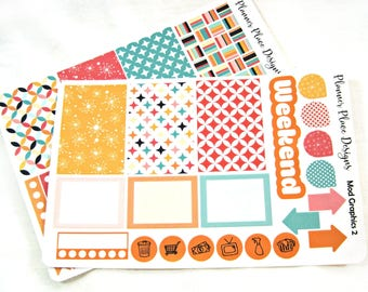 Planner Stickers - Weekly Planner Stickers - Happy Planner Stickers - Day Designer - Functional Stickers - Mod Graphics 2