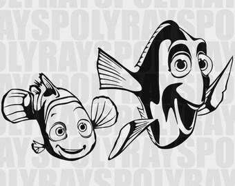 Nemo SVG, Dory EPS, Stencil Vector Clipart PNG, Nemo Stencil, Nemo Clipart, Nemo Instant Download