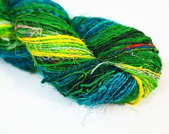 Sari Silk Fibre, Sari Silk Yarn, Felting Fibre, Wet Felting, Nuno Felting, Felting Supplies