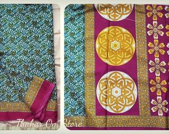 Silk Fabric / Silk Saree / 6 meters by 115 centimeters