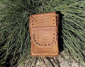 Vintage Cigarettes Case, Vintage Leather Case, Vintage Leather, Brown Leather Case, Genuine Leather Case.