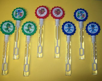 8 PJ MASKS bubble wands Birthday, party, favors