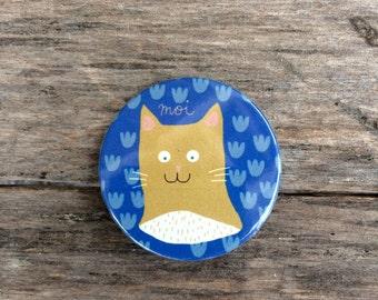 A cat badge