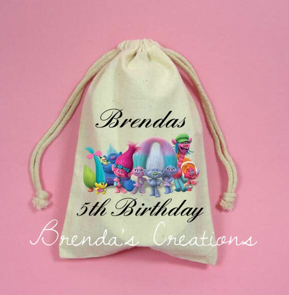 Unique Trolls Personalized Treat Bag