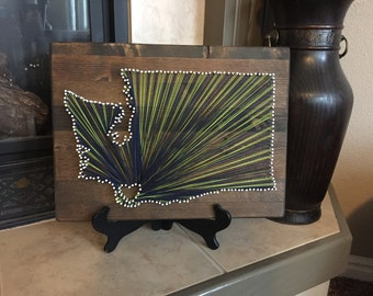 One State, two colors, String Art