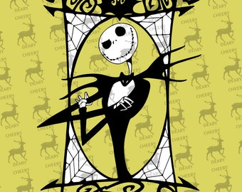 Nightmare Before Christmas, Jack Skellington, Digital File, SVG, DXF, EPS, for use with Silhouette Studio and Cricut Design Space