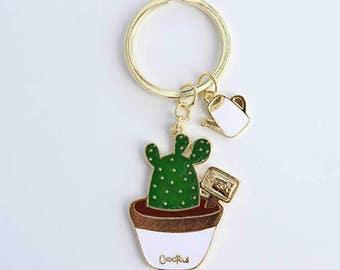 Hard Enamel Cactus Keychain