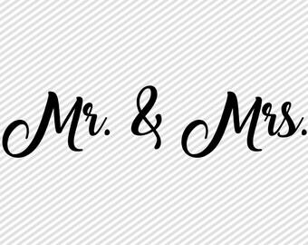 Mr Mrs Svg - Hubby Wifey SVG Cut File - Wifey Cricut Cut File - Hubby Cricut Cut File - Wedding SVG File - Bridal SVG - Wifey Cut File
