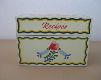 Ohio Art Co. Metal Tin Vintage Recipe Box
