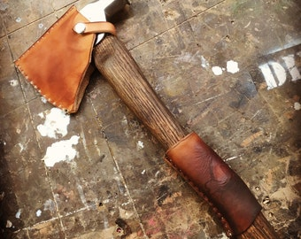 Refurbished Axe/Hatchet w/ Leather handle and head cover