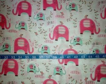 Splash Elephant Fabric-By-The-Yard