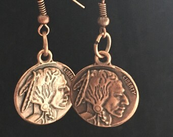 American Buffalo Coin earrings