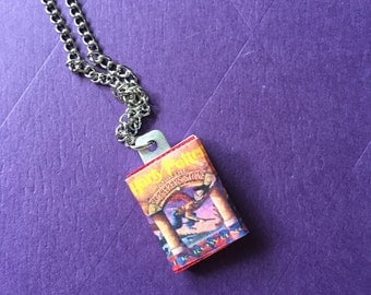 Mini Harry Potter and the Sorcerers Stone book necklace