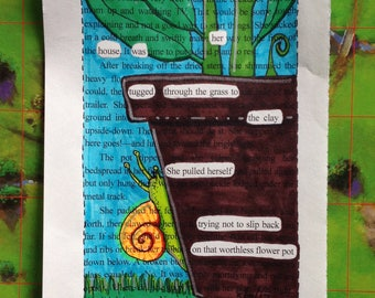 Blackout Poetry -  Snail Stories (Dealing with Blue) - Art and a Donation to AHA
