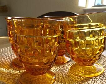 Set of 4 Amber glasses