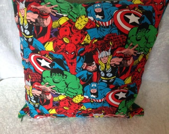 Handmade Marvel Avengers Comic Book 16 Inch Cushion Cover