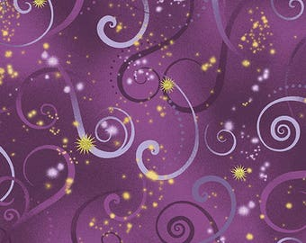 Dance of the Dragonfly - 8500M-66 Swirling Sky Deep Purple by Maria Kalinowski for Kansas in Association with Benartex