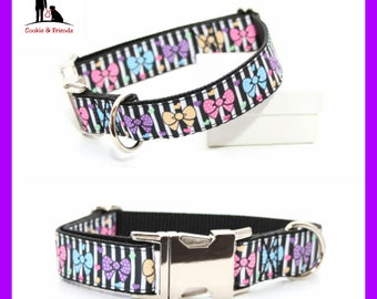 "Dog collar ""Colorful loops"""