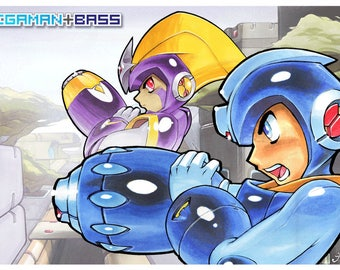 Mega Man and Bass Poster