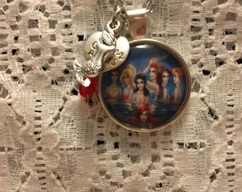 Mermaid Sisters Charm Pendant Necklace/Sisters Always Charm Necklace/Ariel Charm Necklace/Mermaid Jewelry/Ariel Jewelry/Little Mermaid