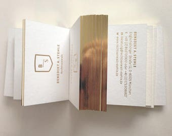 Luxury Business Card Design and Print, Business Card with gold foil stamping and gold edge