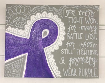 Cancer Ribbon Relay For Life Painting (Fundraiser)