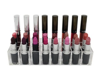 24 Lipstick Holder Acrylic Makeup Storage