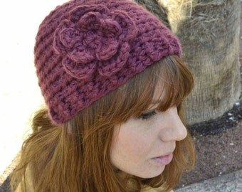 Wool Flower hat