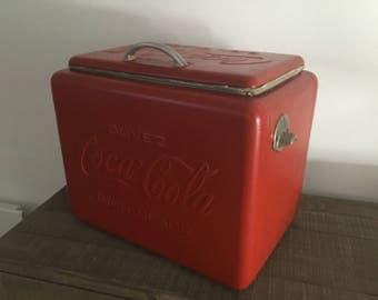 Authentic vintage COCA COLA cooler