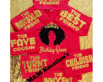 Birthday Friends Shirt Birthday Queen Birthday Squad