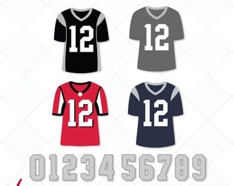 Football Jersery numbers svg, dxf, football svg, jpg, png, eps, ai cutting files, clip art, printable, Silhouette Cameo, Cricut, numbers svg