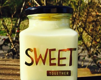 Handmade Soy Candle ~ 8oz ~ Sweet Together ~ Wedding ~ Anniversary ~ Gift ~ Him ~ Her ~ Them ~ Present ~ Token ~ Love