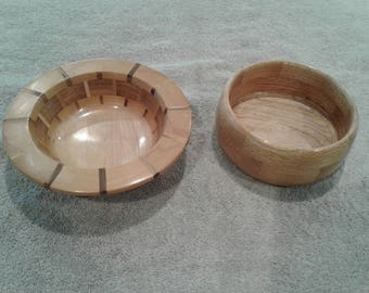 Two Wood Bowls