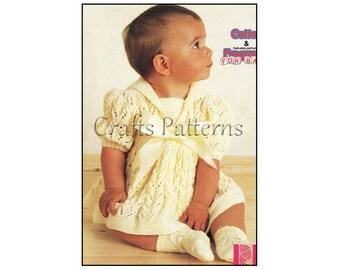 Knitting BABY Dress Pattern, Knitting, Patterns, baby girl, Vintage PDF Knitting Baby Patterns
